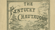 Cover to the 1896 Kentucky Chautauqua illustrated program