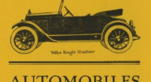 1923 directory yellow pages automobile ad