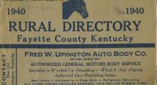 1940 Fayette County rural directory cover