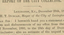 1894 City Tax Collector Report