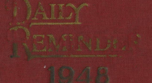 Cover portion of the 1948 diary of Etta Evans Gilmore