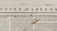 Masthead of the Kentucky Gazette