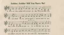 """Soldier, Soldier Will You Marry Me?"" from Mountain Ballads for Social Singing"