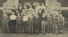 Class 9B, Lexington Junior High School 1935 Flashlight