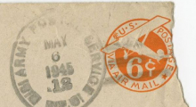 Envelope Postmark on a letter