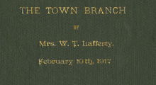 The Town Branch #1