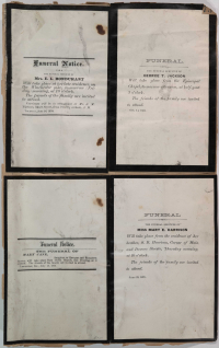 four funeral notices