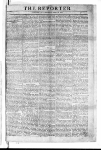 The Reporter March 12, 1800