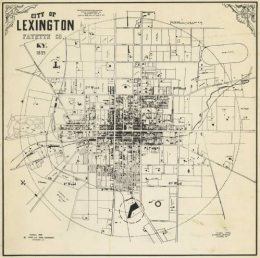City of Lexington map, 1855