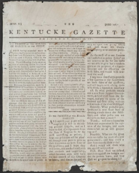 The second issue of the Kentucky Gazette