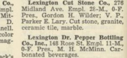 Kentucky Industrial Directory Clipping
