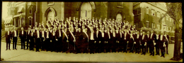Knights of Columbus, circa 1920, in front of St. Paul Catholic Church