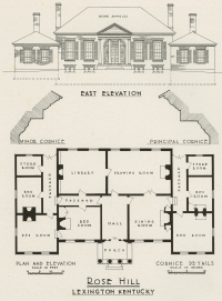 Architectural Drawings of Rose Hill, Lexington, Kentucky (1818)