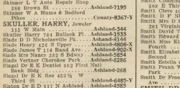 Screenshot from 1933 Lexington Telephone Directory