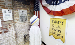 Lexington History Museum Suffrage Display, 2017