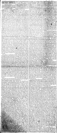 4 columns of the editorial page of The True American